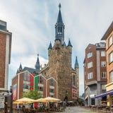 Nas ruas de Aix-la-Chapelle - Alemanha Imagens de Stock Royalty Free