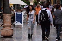 Nas ruas de Cartagena fotografia de stock
