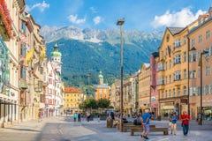 Nas ruas de Innsbruck em Áustria Imagem de Stock Royalty Free