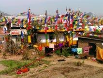 Nas ruas de Kathmandu imagens de stock royalty free