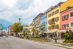 Nas ruas de Lienz em Áustria Foto de Stock Royalty Free