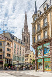 Nas ruas de Mulhouse Fotografia de Stock