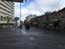 Nas ruas do Jerusalém Imagem de Stock