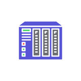 NAS server vector icon, colorful sign. Royalty Free Stock Photo