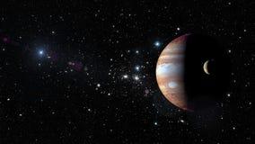 Планета Юпитер в космическом пространстве Элементы этого изображения поставленные NASA Стоковое фото RF