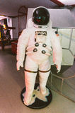 Nasa astronaut space suit. On display in a game arena Royalty Free Stock Photo