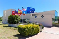 NASA compleja de las comunicaciones de espacio profundo de Madrid Imagen de archivo