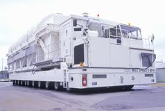 The NASA Karmag Vehicle at the George C. Marshall Space Flight Center in Huntsville, Alabama, can move 794,000 pounds of equipment. But only at five miles per Royalty Free Stock Image