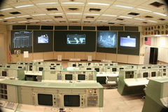 NASA Mission Control. Mission Control from the early years of space exploration, where the Apollo Missions were controlled from and where the famous phrase Royalty Free Stock Photos