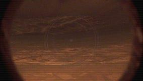 NASA-Nieuwsgierigheid Rover Filming de Oppervlakte van Mars met Glitches en Lawaai stock footage
