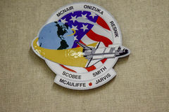 NASA Patch Designs. This is an actual design of the Space Shuttle Patches, except this patch was of the Challenger flight which ended in disaster where all Royalty Free Stock Photos