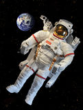 NASA's Astronaut's Space Suit. Astronaut's Space Suit at NASA, FL, USA. The Extravehicular Mobility Unit used on both the Space Shuttle and International Space Royalty Free Stock Photos