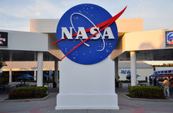 NASA sign in Kennedy Space Center royalty free stock photography