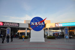 NASA sign in Kennedy Space Center Stock Images