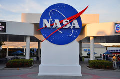NASA sign in Kennedy Space Center Stock Photo