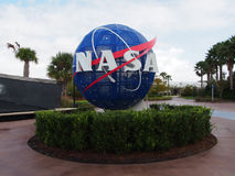 NASA Sign at Kennedy Space Centre. The NASA Globe at the Kennedy Space Centre Stock Images