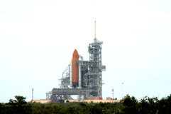 NASA space shuttle. Shuttle on launching pad NASA Florida ready for launch Royalty Free Stock Image