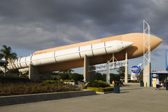 NASA Space Shuttle Solid Rocket Boosters Stock Photo
