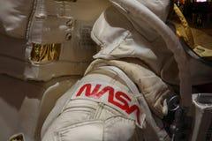 NASAastronautspacesuite av Neil Armstrong Royaltyfria Foton