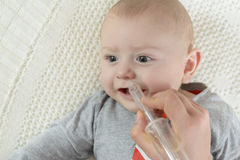 Nasal aspirator for baby Royalty Free Stock Image