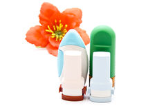 Nasal Spray with Asthma Inhaler Royalty Free Stock Photos