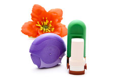 Nasal Spray with Asthma Inhaler Stock Photos