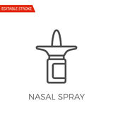 Nasal Spray Vector Icon Royalty Free Stock Images
