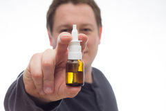 Nasal spray Royalty Free Stock Photos