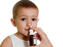 Nasaler Spray Stockbild