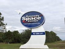 NASAlogo/-zeichen bei Kennedy Space Center lizenzfreies stockbild