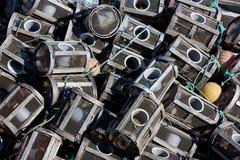 Nasas in Ferrol, La Coruna Stock Image