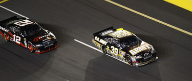 NASCAR - ¡Newman lleva Keselowski! Fotos de archivo