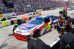 NASCAR - Équipage de la mine de Martin dans l'action Photographie stock