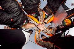 NASCAR : Équipe d'équipage de mine Image libre de droits