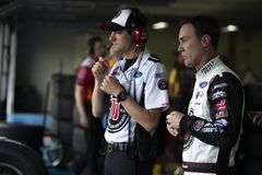 NASCAR: Öppen Maj 19 monsterenergi Fotografering för Bildbyråer