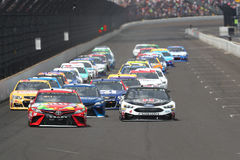 NASCAR :吉尔伯特7月23日Brantley大机器砖瓦厂400 免版税库存图片