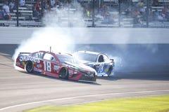 NASCAR :吉尔伯特7月23日Brantley大机器砖瓦厂400 库存图片