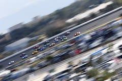 NASCAR :在Daytona的2月19日先遣汽车零件碰撞 图库摄影