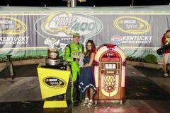 NASCAR :7月11日交友派信徒状态400 免版税库存图片