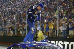 NASCAR :8月19日低音赞成商店NRA夜种族 库存照片