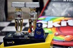 NASCAR :7月26日冠皇家礼物杰夫砖瓦厂的凯尔400 免版税库存照片