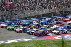 NASCAR :3月17日汽车俱乐部400 免版税库存照片