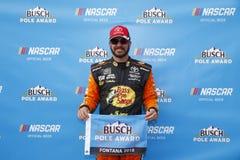 NASCAR :3月16日汽车俱乐部400 库存图片