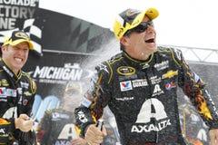 NASCAR :400 8月17日纯净的密执安 免版税图库摄影