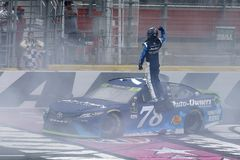 NASCAR :500 10月08日美国银行 免版税图库摄影