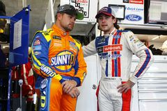 NASCAR :500 10月06日美国银行 免版税图库摄影
