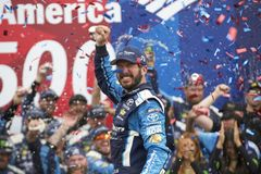 NASCAR :500 10月08日美国银行 图库摄影
