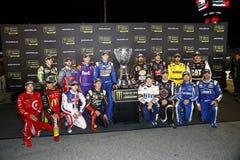 NASCAR :9月09日联盟的汽车零件400 免版税库存照片