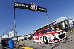 NASCAR :9月08日联盟的汽车零件400 图库摄影
