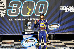 NASCAR :7月19日EnjoyIllinois com 300 库存照片